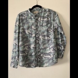 Zara Boy Long Sleeve Camo Print Shirt